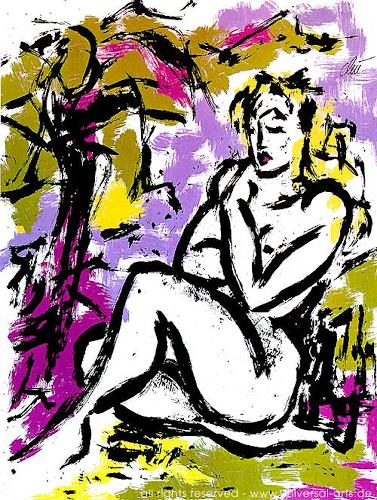 universal arts Jacqueline Ditt & Mario Strack, Die Unschuld von Jacqueline Ditt, Erotic motifs: Female nudes, Miscellaneous Erotic motifs, Expressionism