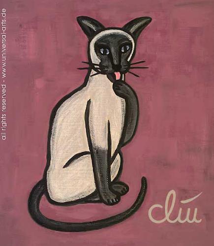 universal arts Jacqueline Ditt & Mario Strack, Die gepflegte Katze von Jacqueline Ditt, Animals: Land, Miscellaneous Animals, Expressionism