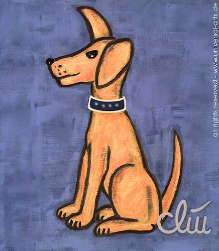 universal arts Jacqueline Ditt & Mario Strack, Der wachsame Hund von Jacqueline Ditt, Animals: Land, Miscellaneous Animals, Expressionism