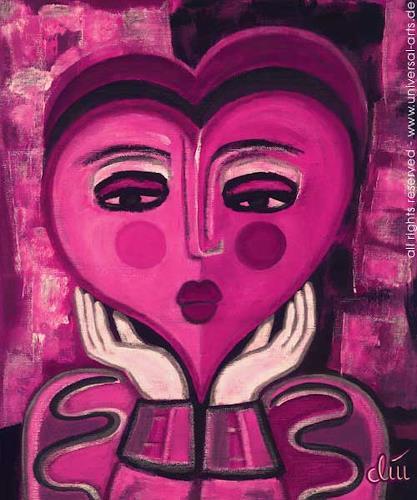 universal arts Jacqueline Ditt & Mario Strack, Waiting for Love von Jacqueline Ditt, Emotions: Love, People: Portraits, Expressionism