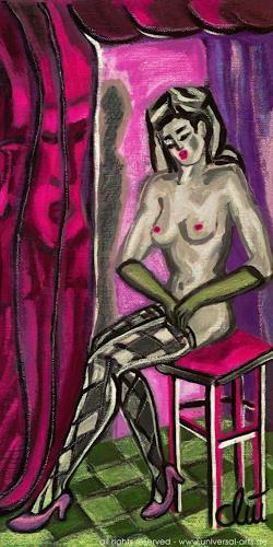 universal arts Jacqueline Ditt & Mario Strack, Die Versuchung von Jacqueline Ditt, Erotic motifs: Female nudes, People: Women, Expressionism