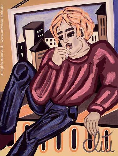 universal arts Jacqueline Ditt & Mario Strack, Leger von Jacqueline Ditt, People: Men, Miscellaneous People, Expressionism