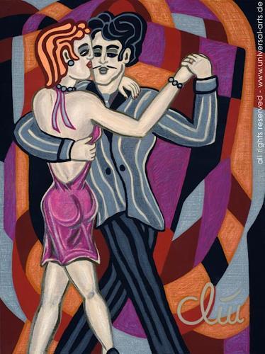 universal arts Jacqueline Ditt & Mario Strack, Tango Argentino von Jacqueline Ditt, People: Couples, Parties/Celebrations, Expressionism