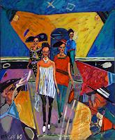 Bart-Fraczek-People-Women-People-Group-Contemporary-Art-Neo-Expressionism