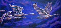 Mascha-Dueben-Animals-Air-Romantic-motifs-Sunset-Contemporary-Art-Contemporary-Art