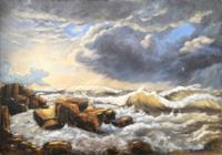 Mascha-Dueben-Nature-Water-Landscapes-Sea-Ocean-Modern-Times-Historism