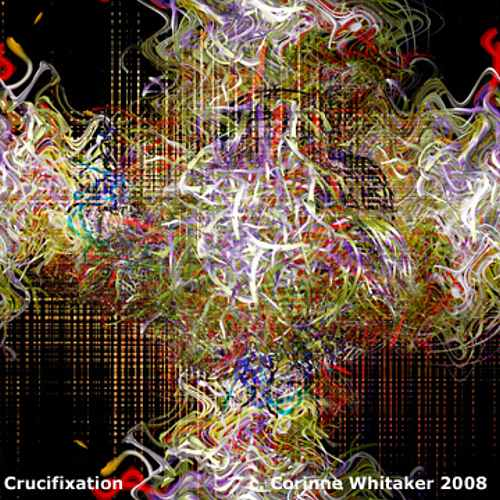 Corinne Whitaker, Crucifixation, Abstract art, Fantasy, Contemporary Art
