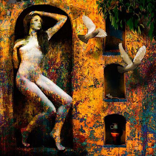 Van Renselar, In Dinas, Erotic motifs: Female nudes, Abstract art, Expressive Realism, Expressionism