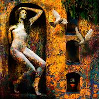 Van-Renselar-Erotic-motifs-Female-nudes-Abstract-art-Modern-Age-Expressive-Realism