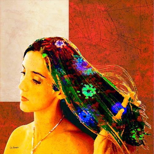 Van Renselar, Fleur 3, Miscellaneous, Abstract art, Modern Age, Expressionism