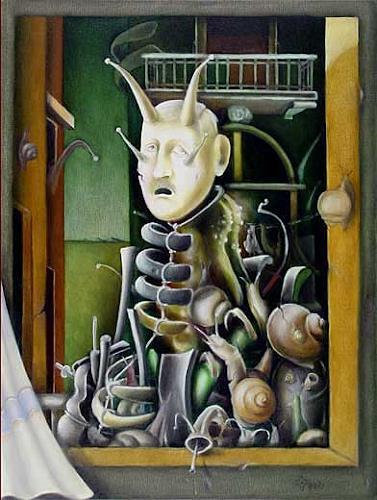 Zoran Velimanovic, Portrait of a Dead Friend, Fantasy, Post-Surrealism