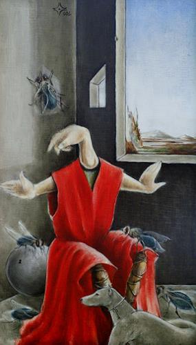 Zoran Velimanovic, Little Saint with Dog, Fantasy, Post-Surrealism