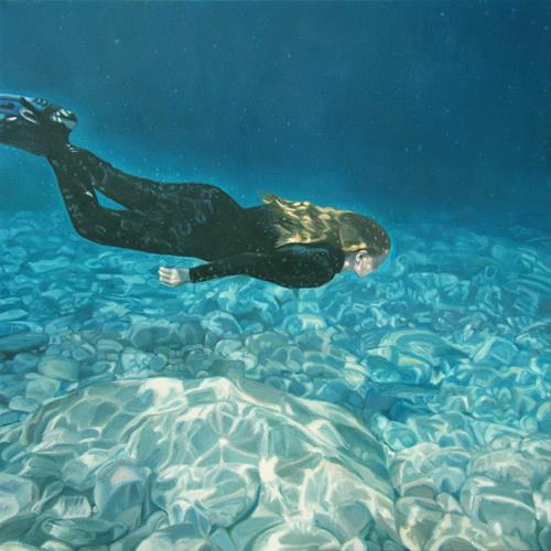 Jennifer Walton, Below the Surface Georgian Bay 4, People, Nature: Water, Contemporary Art