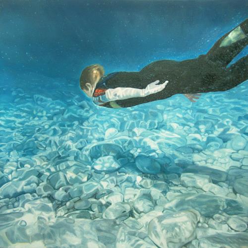 Jennifer Walton, Below the Surface Georgian Bay 3, People: Children, Nature: Water, Contemporary Art