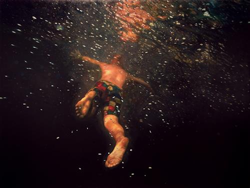 Jennifer Walton, Underwater Galaxy, Nature: Water, People, Contemporary Art, Abstract Expressionism