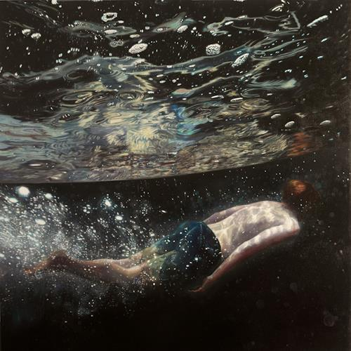 Jennifer Walton, Moonage Daydream, Outer space: Moon, Nature: Water, Contemporary Art, Abstract Expressionism