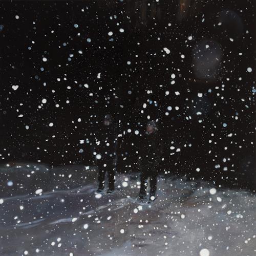 Jennifer Walton, Night Snow Globe, Miscellaneous People, Landscapes: Winter, Realism