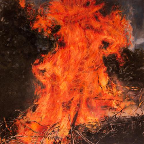 Jennifer Walton, Brush Fire, Nature: Fire, Landscapes: Summer, Realism