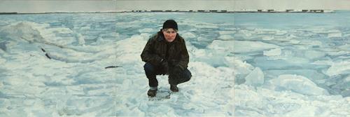 Jennifer Walton, Self-Portrait, Toronto Waterfront, March 2007, People: Portraits, Landscapes: Winter, Realism