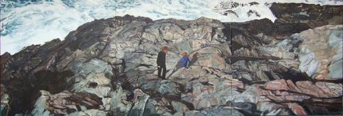 Jennifer Walton, Coastline 3, Landscapes: Sea/Ocean, Miscellaneous People, Realism