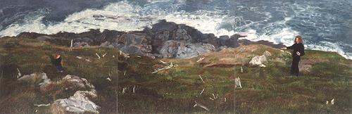 Jennifer Walton, Coastline 2, Landscapes: Sea/Ocean, Miscellaneous People, Realism