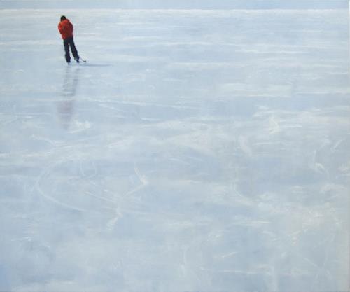 Jennifer Walton, Skater 3, Miscellaneous People, Landscapes: Winter, Contemporary Art