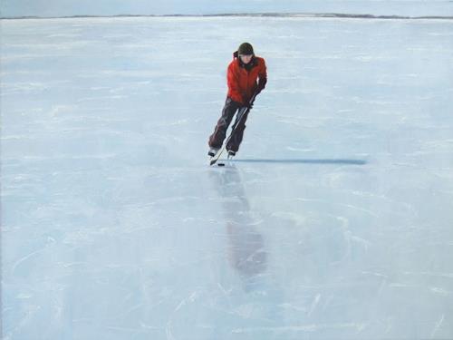 Jennifer Walton, Skater 1, Landscapes: Winter, Miscellaneous People, Contemporary Art