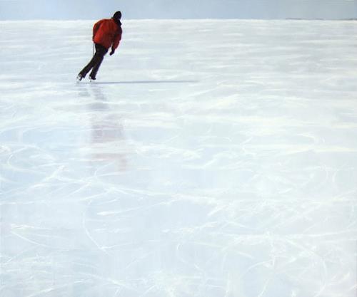 Jennifer Walton, Skater 7, Landscapes: Winter, Sports, Contemporary Art, Expressionism