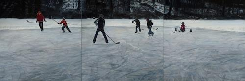 Jennifer Walton, Shinny 3, Landscapes: Winter, Sports, Realism