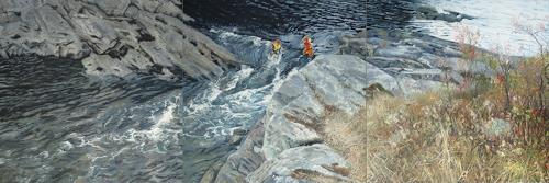 Jennifer Walton, Rapids 2, Landscapes: Summer, Nature: Water, Contemporary Art, Expressionism
