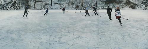 Jennifer Walton, Shinny 4, Sports, Landscapes: Winter, Contemporary Art