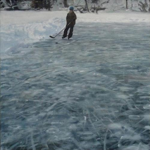 Jennifer Walton, Blue Ice 2, Landscapes: Winter, Sports, Contemporary Art