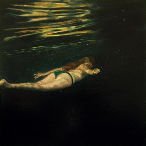 Jennifer Walton, Dark Water Swim 2, People: Women, Nature: Water, Contemporary Art, Abstract Expressionism