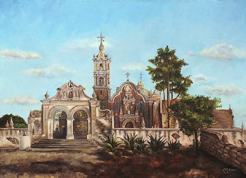 Natalia Malinko, Church of Tlaxcalalcingo., Architecture, Buildings: Churches, Expressionism