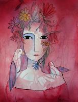 Helga-Hornung-People-Women-Fantasy-Contemporary-Art-Contemporary-Art