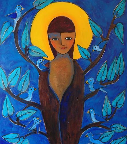 Helga Hornung, Baumfrau, Mythology, Nature, Contemporary Art