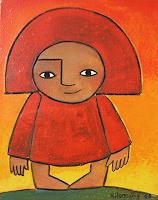 Helga Hornung Art Fantasy People: Children Modern Age Primitive Art/Naive Art