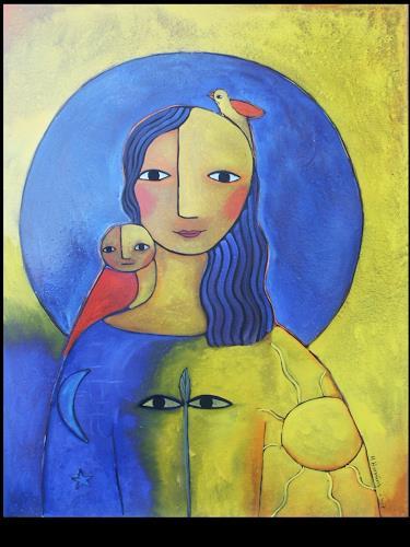 Helga Hornung, Hüterin der Erde, Fantasy, Belief, Abstract Art