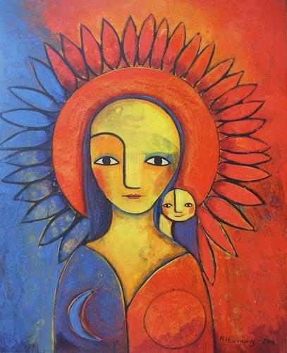Helga Hornung, Schamanin, Fantasy, Primitive Art/Naive Art