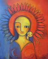 Helga-Hornung-Fantasy-Modern-Age-Primitive-Art-Naive-Art