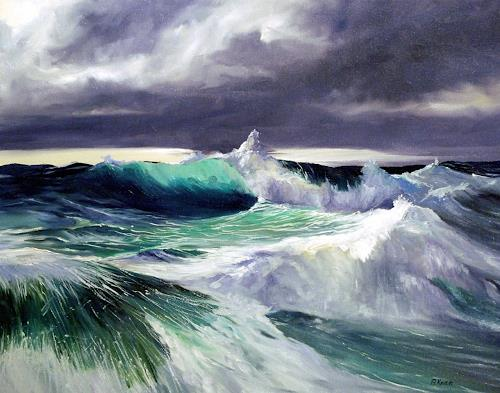 Andreas Kruse, Wellenberge, Movement, Landscapes: Sea/Ocean, Realism, Abstract Expressionism
