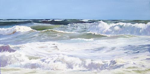 Andreas Kruse, Nordsee, Landscapes: Sea/Ocean, Nature: Water, Realism, Expressionism