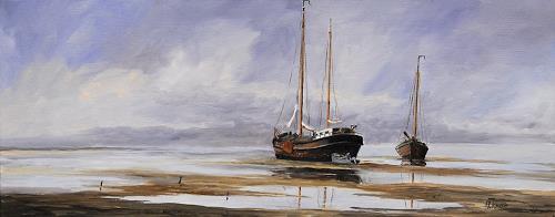 Andreas Kruse, Drog Gevallen, Landscapes: Sea/Ocean, Verkehr: Ship, Impressionism, Expressionism