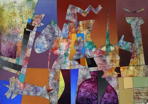Georgi Demirev, Midnight blue_III, Carnival, Miscellaneous Romantic motifs, Postmodernism, Expressionism