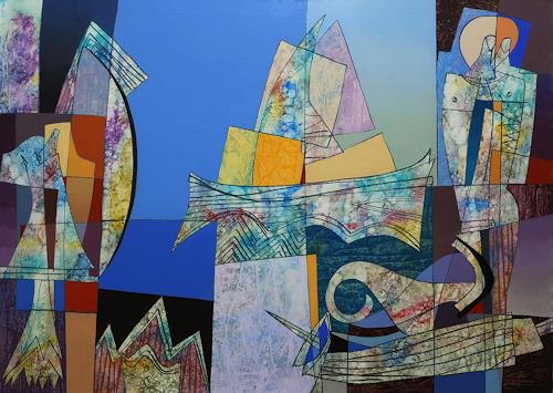 Georgi Demirev, Sea morning, Landscapes: Beaches, Fantasy, Contemporary Art, Abstract Expressionism