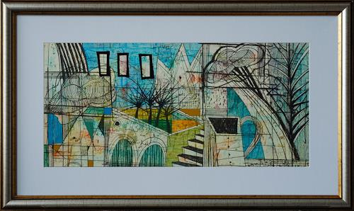 Georgi Demirev, Landscape with clouds, Miscellaneous Landscapes, Abstract art, Conceptual Art, Abstract Expressionism