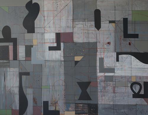 Georgi Demirev, Geometrical composition, Abstract art, Mythology, Abstract Art