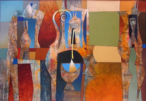 Georgi Demirev, Composition, Abstract art, Fantasy, Non-Objectivism [Informel], Expressionism
