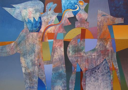 Georgi Demirev, Night, Abstract art, Fairy tales, Conceptual Art, Expressionism