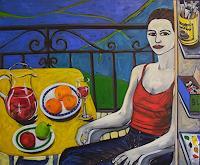 Erik-Slutsky-People-Women-Still-life-Modern-Age-Expressive-Realism